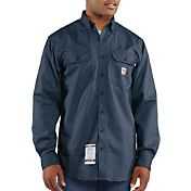 Carhartt Men's Flame Resistant Twill Long Sleeve Work Shirt