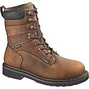 "Wolverine Men's Brek 8"" Waterproof DuraShocks Steel Toe Work Boots"