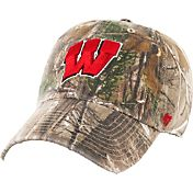 '47 Men's Wisconsin Badgers Camo Clean Up Adjustable Hat