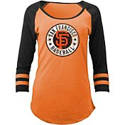 5th & Ocean Women's San Francisco Giants Orange Tri-Blend Three-Quarter Sleeve Shirt