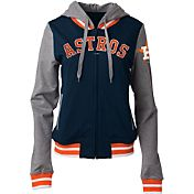 5th & Ocean Women's Houston Astros Navy/Grey Full-Zip Hoodie