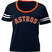 5th & Ocean Women's Houston Astros Navy Scoop Neck Shirt