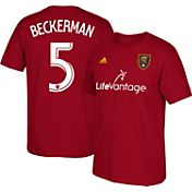 adidas Men's Real Salt Lake Kyle Beckerman #5 Red Player T-Shirt