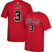 adidas Men's Chicago Bulls Dwyane Wade #3 climalite Red T-Shirt
