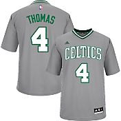 adidas Men's Boston Celtics Isaiah Thomas #4 Pride Grey Replica Jersey