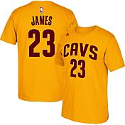 adidas Men's Cleveland Cavaliers LeBron James #23 Gold T-Shirt