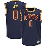 adidas Men's Cleveland Cavaliers Kevin Love #0 Alternate Navy Replica Jersey