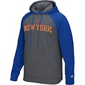 adidas Men's New York Knicks climawarm Tip-Off Grey/Royal Hoodie