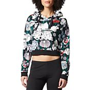 adidas Originals Women's Cropped Print Hoodie