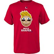 Majestic Youth Washington Nationals Bryce Harper Emoji Red T-Shirt