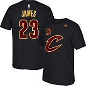 adidas Youth Cleveland Cavaliers LeBron James #23 Black T-Shirt
