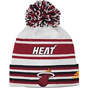 adidas Youth Miami Heat Cuffed Pom Knit Hat