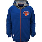 adidas Youth New York Knicks Pre-Game Royal Hoodie