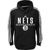 adidas Youth Brooklyn Nets Performance Black Pullover Hoodie
