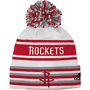 adidas Youth Houston Rockets Cuffed Pom Knit Hat