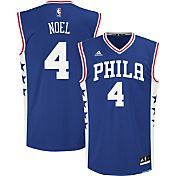 adidas Youth Philadelphia 76ers Nerlens Noel #4 Road Royal Replica Jersey