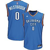 adidas Youth Oklahoma City Thunder Russell Westbrook #0 Road Blue Replica Jersey