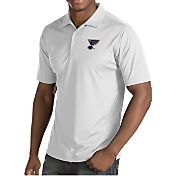 Antigua Men's St. Louis Blues Inspire White Polo