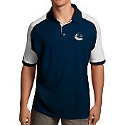 Antigua Men's Vancouver Canucks Navy/White Century Polo