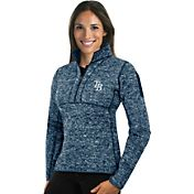Antigua Women's Tampa Bay Rays Navy Fortune Half-Zip Pullover