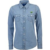 Antigua Women's Portland Timbers Chambray Long-Sleeve Shirt
