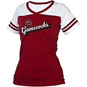 boxercraft Women's South Carolina Gamecocks Garnet/White Powder Puff T-Shirt