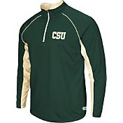 Colosseum Athletics Men's Colorado State Rams Green Airstream Quarter-Zip Windshirt