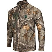 Colosseum Athletics Men's Michigan State Spartans Camo Decoy Quarter-Zip Wind Shirt