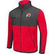 Colosseum Athletics Men's Utah Utes Red/Grey Mesa Polar Fleece Jacket