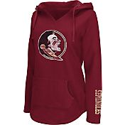 Colosseum Athletics Women's Florida State Seminoles Garnet Walkover V-Neck Hooded Pullover