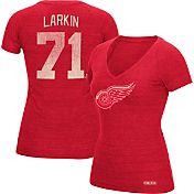CCM Women's Detroit Red Wings Shane Larkin #71 Vintage Replica Home Player T-Shirt