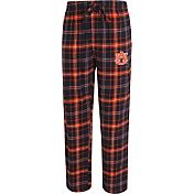 Concepts Sport Men's Auburn Tigers Blue/Orange Ultimate Plaid Sleep Pants