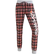 Concepts Sports Women's Cleveland Browns Orange/Brown Flannel Jogger Pants