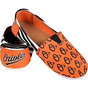 Forever Collectibles Women's Baltimore Orioles Stripe Canvas Shoes