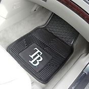 Tampa Bay Rays Heavy Duty Vinyl Car Mats 2-Pack