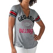 G-III For Her Women's Georgia Bulldogs Grey Any Sunday T-Shirt