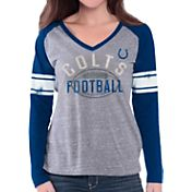G-III for Her Women's Indianapolis Colts Tri-Blend Franchise Grey Long Sleeve Shirt