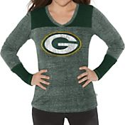 G-III for Her Women's Green Bay Packers Goal Line Green Long Sleeve Shirt