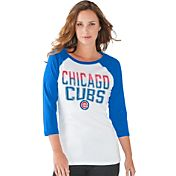Touch by Alyssa Milano Women's Chicago Cubs White/Royal Three-Quarter Sleeve Shirt