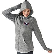 G-III 4Her Women's Washington Capitals Recovery Grey Full-Zip Hoodie