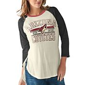 G-III for Her Women's Arizona Coyotes Hang Time Three Quarter Sleeve Vintage White T-Shirt