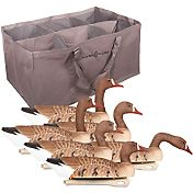 Hard Core Specklebelly Goose Floater Decoys with Bag – 6 Pack