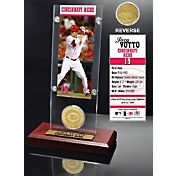 The Highland Mint Cincinnati Reds Joey Votto Acrylic Desktop Ticket and Minted Coin Display