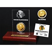 The Highland Mint Chicago Blackhawks Gold Coin Etched Acrylic