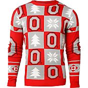 Klew Men's Ohio State Buckeyes Scarlet Ugly Sweater