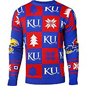 Klew Men's Kansas Jayhawks Blue Ugly Sweater