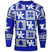 Klew Men's Kentucky Wildcats Blue Ugly Sweater
