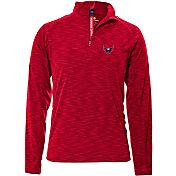 Levelwear Men's Washington Capitals Mobility Red Quarter-Zip Shirt