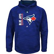 Majestic Men's Toronto Blue Jays Therma Base On-Field Royal Authentic Collection Pullover Hoodie