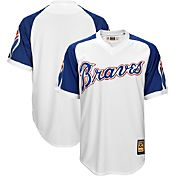 Majestic Men's Replica Atlanta Braves Cool Base White Cooperstown Jersey